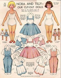 This is one of the paper dolls we used to trace and cut out from my Mom's old English magazines!