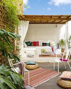 19 Patios You'll Want to Live on This Summer via Brit + Co