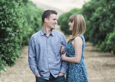 Orange Grove Engagement Session - Inspired Bride