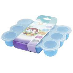 12 Set Pots de Conservation Moule en Silicone Repas pour Bébé convient pour Congélation Sans BPA Approuvé par FDA - Disponible sur Amazon- couvercle commun inclus - Bleu: Amazon.fr: Bébés & Puériculture