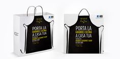 creative shopping bag for take-away service. PD