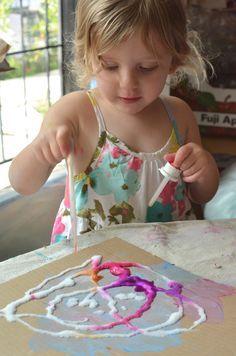Peinture sel est tellement cool.  Les enfants adorent!