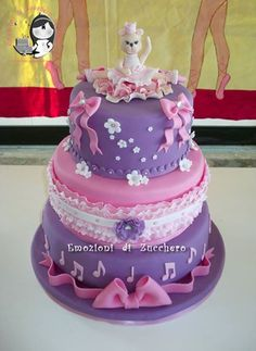 Ballerina bear cake Ballet cake super cute