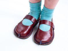 DIY Kids Leather Kimisha Shoe Pattern wi - via @Craftsy