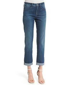 Sylvia Relaxed Boyfriend Jeans, Women's, Size: 16, Blue - NYDJ