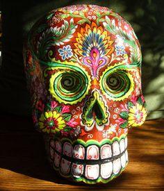 Dia de los muertos papier mache skull by Felipe by IsabellaDeMayo