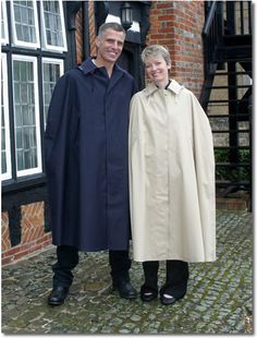 Mackintosh capes from Rainmac. Capes, Mens Cape, Rain Cape, Rain Wear, Rainy Days, Raincoat, Mac, Women's Fashion, Film