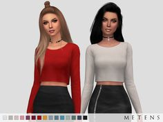 Metens | Ania Top Comes in 15 colours. EA mesh edit I...