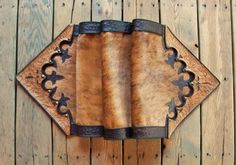 "Western leather table runner home decor vintage style tan and black hair-on cowhide fur ""cowboy boot"" design STARGAZER MERCANTILE on Etsy, $695.00"