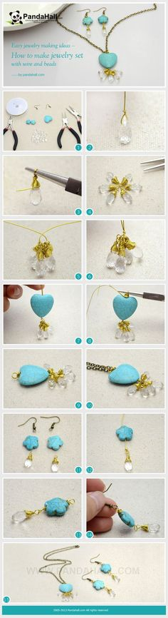 How to Make Wrapped Jewelry Set with Wire and ... | Jewelry Making Tu…