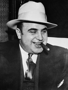 Al Capone died of syphilis a few years after his release from Alcatraz, his brain completely wasted.