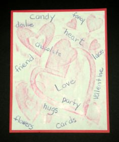 FREE-Valentine Rubbings and Words provides the elementary student with a quiet seat work experience.  Children will learn and enjoy crayon rubbing and add printed words to their design-thus-combining language arts and visual arts in one project.