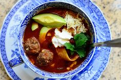 Meatball Tortilla Soup via The Pioneer Woman
