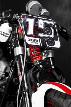XR1200 special fork and plate number by Free Spirits - https://www.pinterest.com/dapoirier/motorcycles/