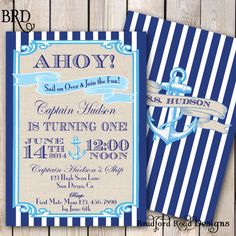 Sailing Nautical Birthday Invitation by BradfordRoadDesigns, $20.00