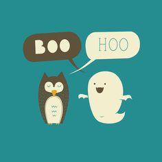 Boo Hoo Art Print by AGRIMONY // Aaron Thong