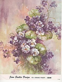 Vintage - Double Violets - 25 - Jean Sadler - 1962 - Oo