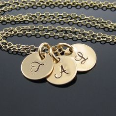 Statement Jewelry 14k Solid Gold Initial by prolifiquejewelry, $249.00