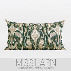 新古典/样板房家居软装靠包抱枕设计师/绿色欧式古典花纹绣花腰枕-淘宝网