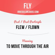 """Fly"" means to move through the air. Example: Witches love to fly on brooms at night. #irregularverbs #englishverbs #verbs #english #englishlanguage #learnenglish #studyenglish #language #vocabulary #dictionary #efl #esl #tesl #tefl #toefl #ielts #toeic #fly #air"