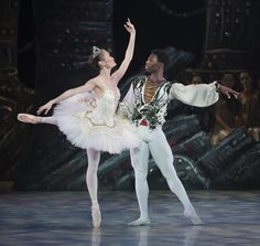 Brooklyn Mack and Rui Huang of The Washington Ballet in the 2011 production of Le Corsaire. Photo by Theo Kossenas.