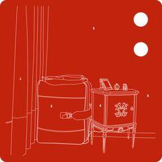 Laura Gibellini  #threefivefifty #05 #sticker #3550 #design #red Stickers, Logos, Red, Design, Logo, Decals