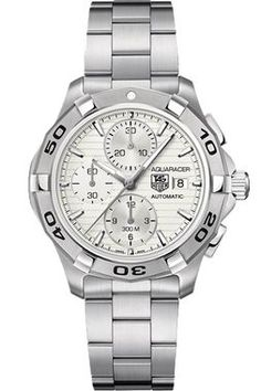 40mm Link watch by TAG Heuer - brushed steel case and bracelet with
