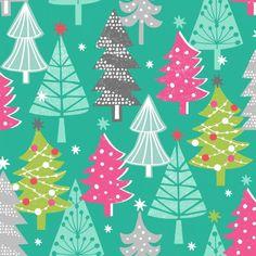 Tela de algodón con temas de Navidad por LoveFabricIreland en Etsy