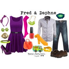 Scooby Doo Fred & Daphne Inspired Couples Outfit