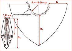 Выкройки ламбрекенов и наиболее сложных элементов драпировок штор Равносторонний сваг