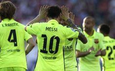 Messi decide incontro e Liga: 0-1 al Vicente Calderón, e il Barça è campione di Spagna Grazie al 41° goal in campionato di Lionel Messi (65'), il Barcellona vince sul campo dell'Atlético Madrid e si laurea, per la 23ª volta, campione di Spagna. Il tutto nonostante la vittoria, ottenuta #calcio #spagna #liga #barcellona #messi