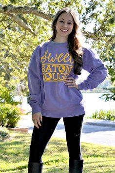 Sweet Baton Rouge™   Comfort Color Sweatshirt   Shop Football Tees