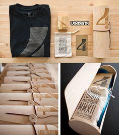 25 embalagens de camisetas criativas