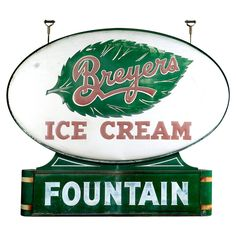 Art Deco Soda Fountain Sign | From a unique collection of antique and modern signs at https://www.1stdibs.com/furniture/folk-art/signs/