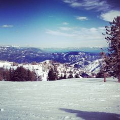 Photo by logankaiw  a lovely view from mountains  #squawvalley #mountains #snow #skiing #clouds #sky