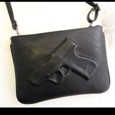 "Gun Clutch Be a fashion "" killer "" with this super cute gun clucth. Come with detachable strap. Bags"