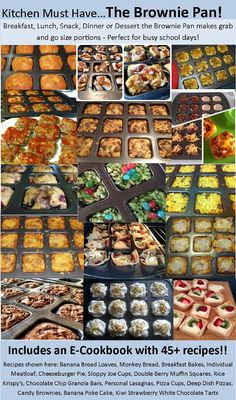 Ideas for Pampered Chef Brownie Pan!