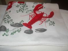 Lobster Tablecloths from the 1950s