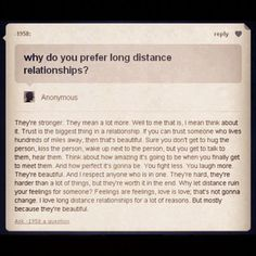 Long Distance Relationships ♥