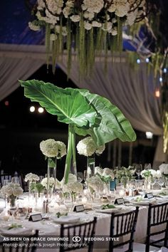 simple and clean wedding decor