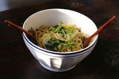 Pasta w/ mustard greens, rapini (broccoli rabe), + aillet #eatclean #healthy #yummy #vegetarian