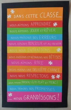 Our classroom rules School Organisation, Classroom Organization, Classroom Management, French Teaching Resources, Teaching French, Teaching Tools, Classroom Rules, School Classroom, French Classroom Decor