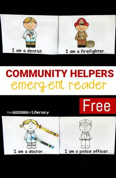 This community helpers emergent reader is great to add to your community helpers themed unit! Perfect for early readers with repetitive text and sight words!
