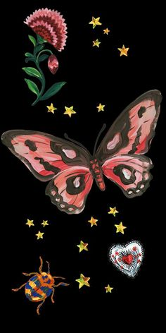 Gucci Wallpaper: Shared by ॐ. Find images and videos about girl, cute and art on We Heart It – … Butterfly Wallpaper Iphone, Iphone Background Wallpaper, Pastel Wallpaper, Aesthetic Iphone Wallpaper, Cool Wallpaper, Aesthetic Wallpapers, Hippie Wallpaper, Screen Wallpaper, Tattoo Wallpaper
