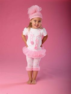 Mud Pie Tutu Tunic with Ballet Slippers and Capris Leggings