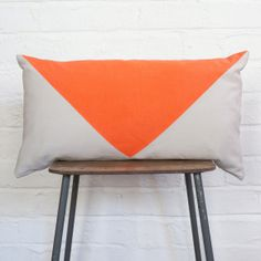 Japanese Cushion Neon Triangle