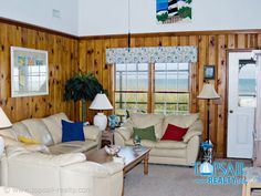 Vaulted ceilings and comfortable furnishings - all with an ocean view!