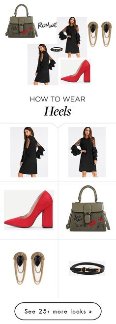 Designer Clothes, Shoes & Bags for Women How To Wear Heels, Romwe, Shoe Bag, Polyvore, Outfits, Accessories, Collection, Shopping, Shoes