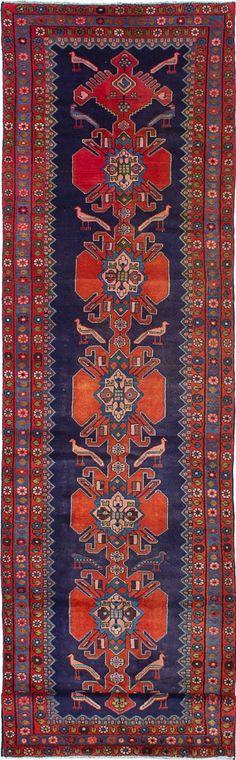 Hand-knotted Nahavand Dark Navy Wool Rug