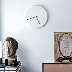 Ora Wall Clock White - Jonas Trampedach and Birgitte Due Madsen - Kähler - RoyalDesign.com #clock #kähler #kahler #watch #design #forthemhome #interior #interiordesgin #royaldesign